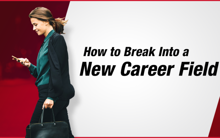 Moving into a new job career change